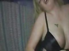 milf, blondi, soolo, tupakointi, isot rinnat, masturbaatio, pullukka