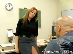 kantoor, sexy moeder, hard, model, uniform, pornoster