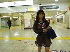 публично, азиатки, момичета, соло, сред природата, японки