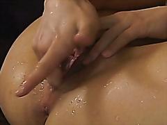 мастурбация, еротика, влажни путета, празнене, азиатки