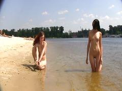 публично, плаж, аматьори, сред природата, воайор