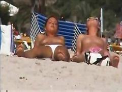 лесбийки, анално, фистинг, плаж