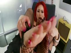 Миа Лелани, бельо, чорапи, червенокоси