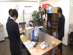 bureaux, asiatiques, seins, oral, gros seins, japonais