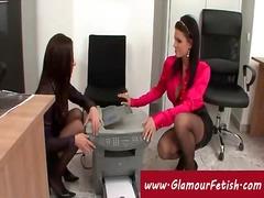 lesbian, secretary, office