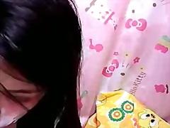 webcam, orientalske, smukke tøser, ansigt, søde piger