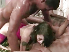 black, nasty, wet, slut, gaping, bigcock, slammed, a2m, 4some, cute