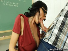big, teacher, tits, titjob
