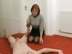 fetish, masturbieren, voyeur, group, milf, female domination, uniform, erniedrigung, handjob, reif