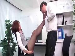 близане, фетиш с крака, офис, фетиш, азиатки