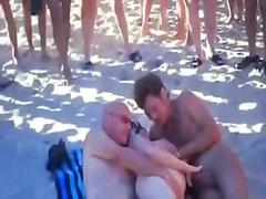 съпруга, плаж