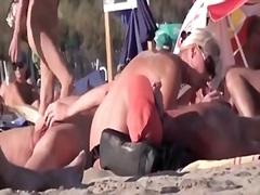мъж, плаж, французойки, кур