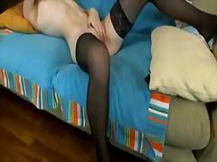 чорапи, мастурбация, бръснати, червенокоси