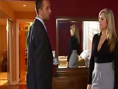 collants, blondes, bureaux, fortes poitrines