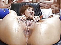 азиатки, космати, изпразване на лицето