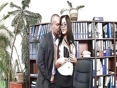 kousen, likken, vagina, kantoor