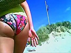 скрит, камери, плаж, близък план, воайор, къса пола