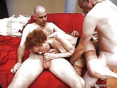 червенокоси, мастурбация, трио, бабички, масов секс