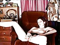 orgasma, jari, pantat, lancap, kelentit, mengerang, seorang, menggosok