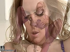 мастурбация, бельо, соло, блондинки, яки мацки