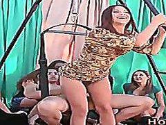парти, жена гол мъж