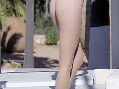 telanjang, porno softcore, cantik, rambut merah, erotik, awek, seorang, gadis, orgasma, bogel