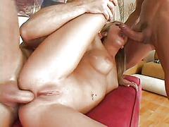 трио, блондинки, проникване, масов секс